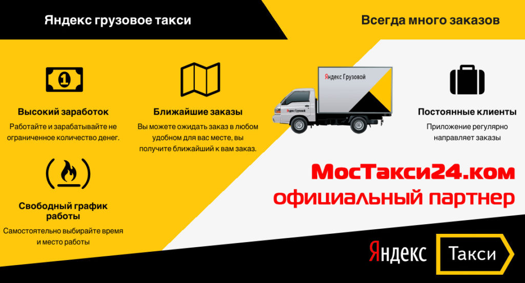 Яндекс Грузовое такси подключиться